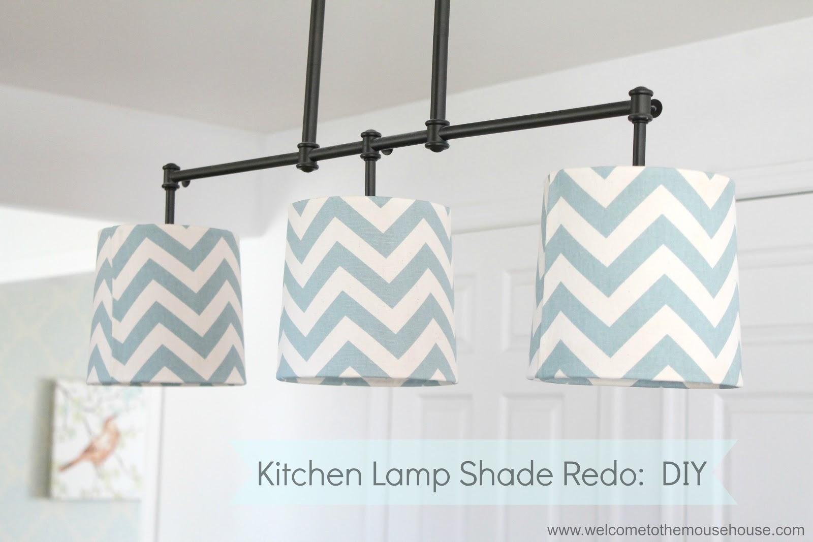 Chevron Kitchen Lamp Shade Redo: DIY ...