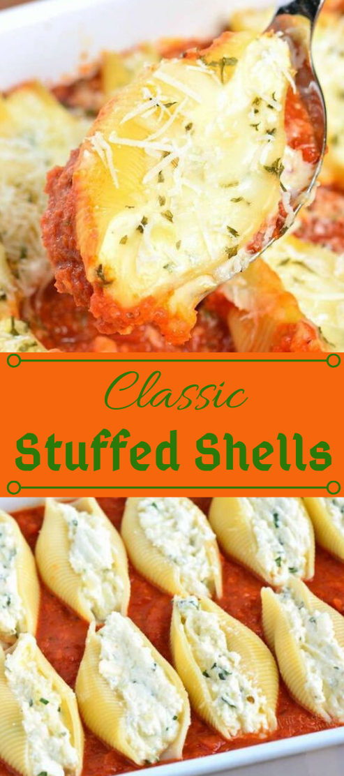 CLASSIC STUFFED SHELLS #vegetarian #vegan #cauliflower #mushroom #recipes