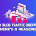 Why Blog Traffic Dropping Here's 8 Reasons