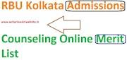 RBU Kolkata Merit List 2019-2020 Admissions Card- www.rbu.ac.in