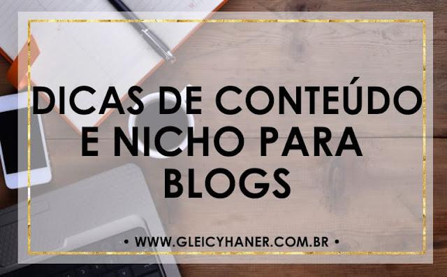 dicas de conteúdo e nicho para blogs