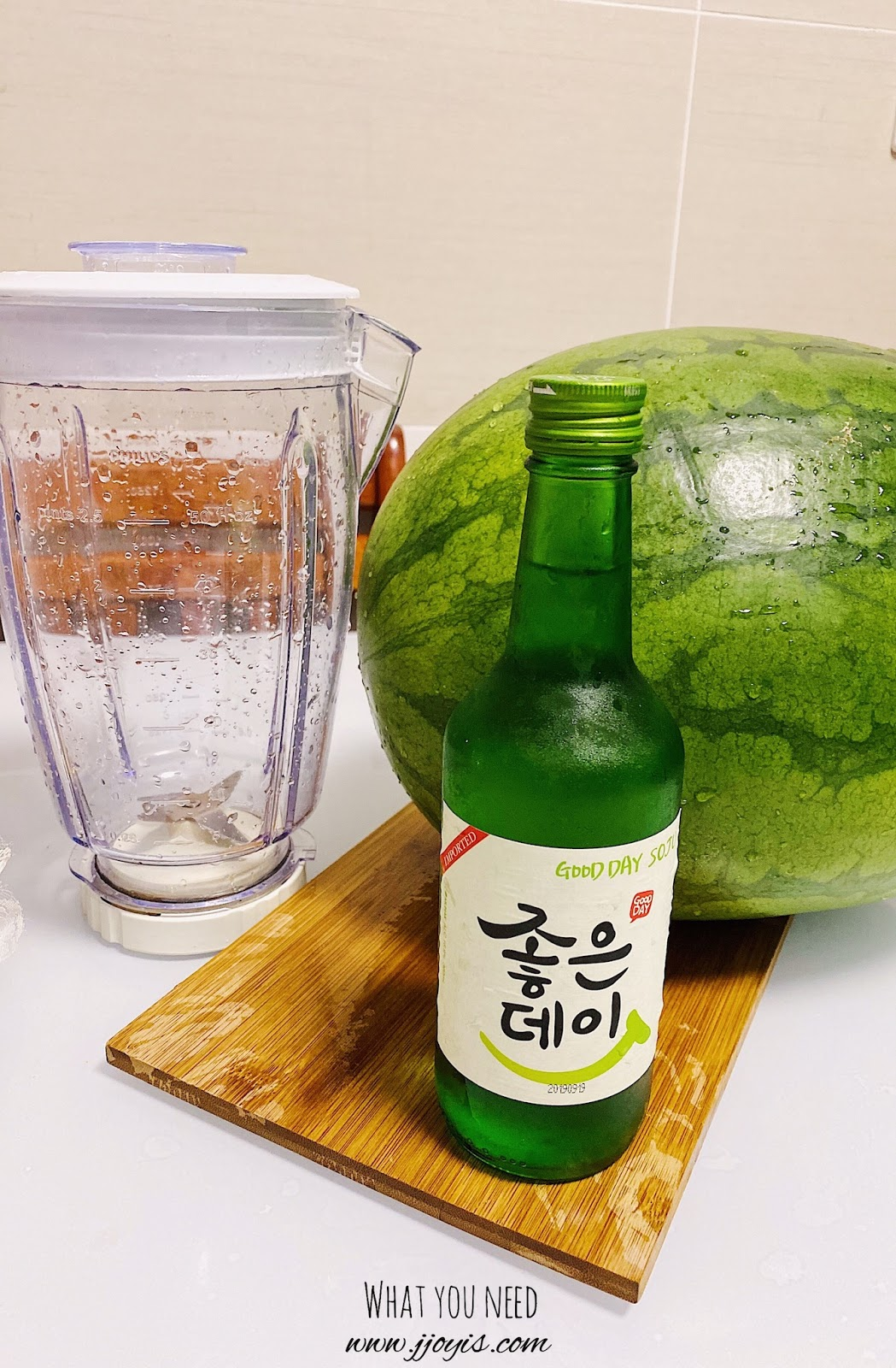 homemade, watermelon soju, unflavoured soju, watermelon vodka, easy recipe, subak soju, subak-soju, what you need, ingredients, equipment needed