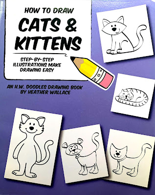 Feline Fiction on Fridays #117 at Amber's Library ©BionicBasil® How To Draw Cats and Kittens - Amber's Purrsonal Copy