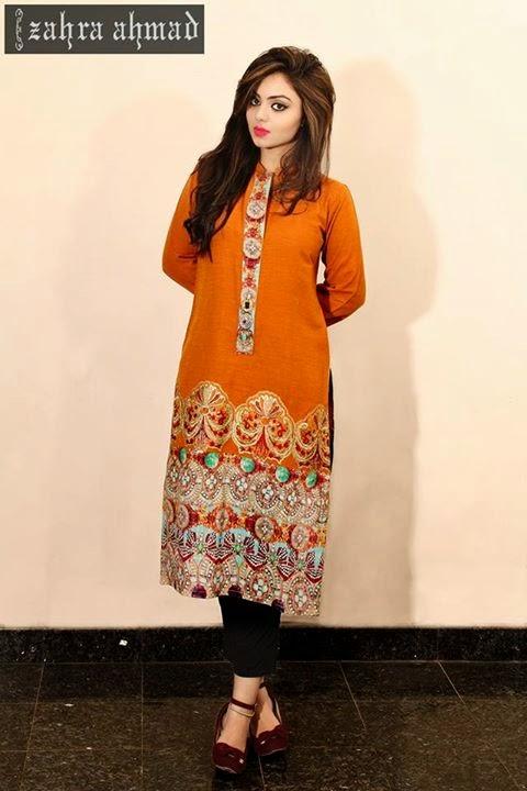 Zara Ahmad Latest Winter Dresses 2014 15 For Women