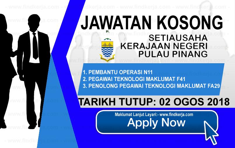 Jawatan Kerja Kosong SUK Pulau Pinang logo www.ohjob.info www.findkerja.com ogos 2018