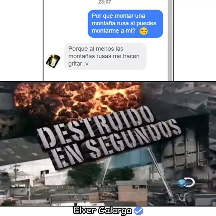 Destruido en segundos