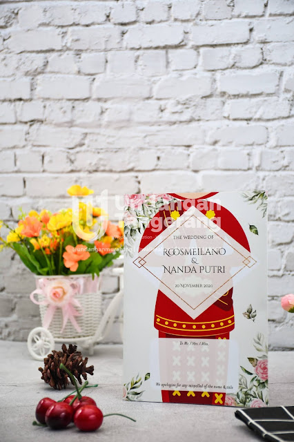 Undangan Pernikahan Adat Minang dan Tema Florist - Walimahanid | 0812-1141-8687