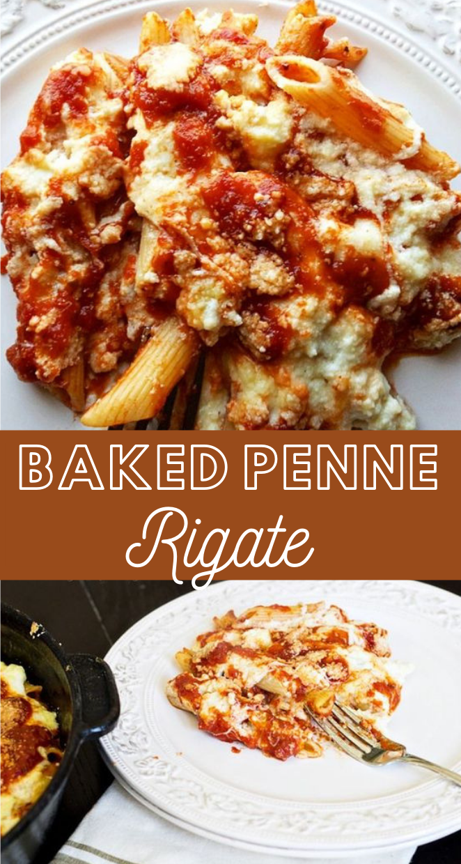 BAKED PENNE RIGATE  #dinner #yummy