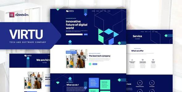 Best Tech & Software Company Elementor Template kit
