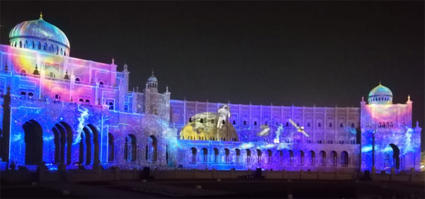 Sharjah, News, Gulf, World, Festival, Message, Lighting Festival, Inauguration, Music, Light, Lighting Festival in Sharjah