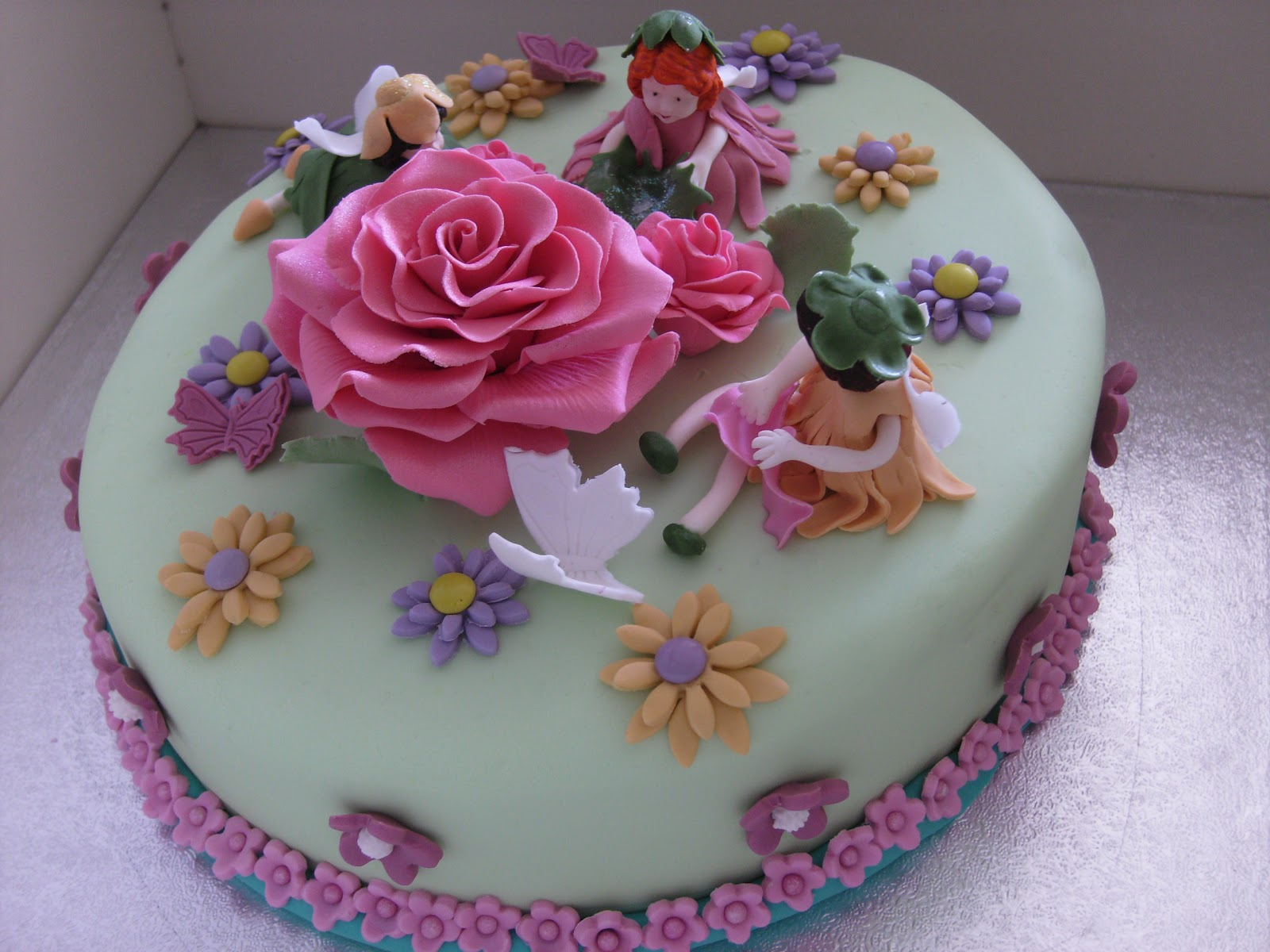 Flower Fairy Birthday Cake Party And Madiera Cake Recipe