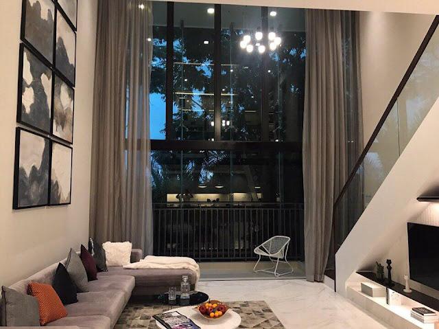 Nhà mẫu căn hộ duplex thông tầng tháp T8 the View Riviera Point quận 7.