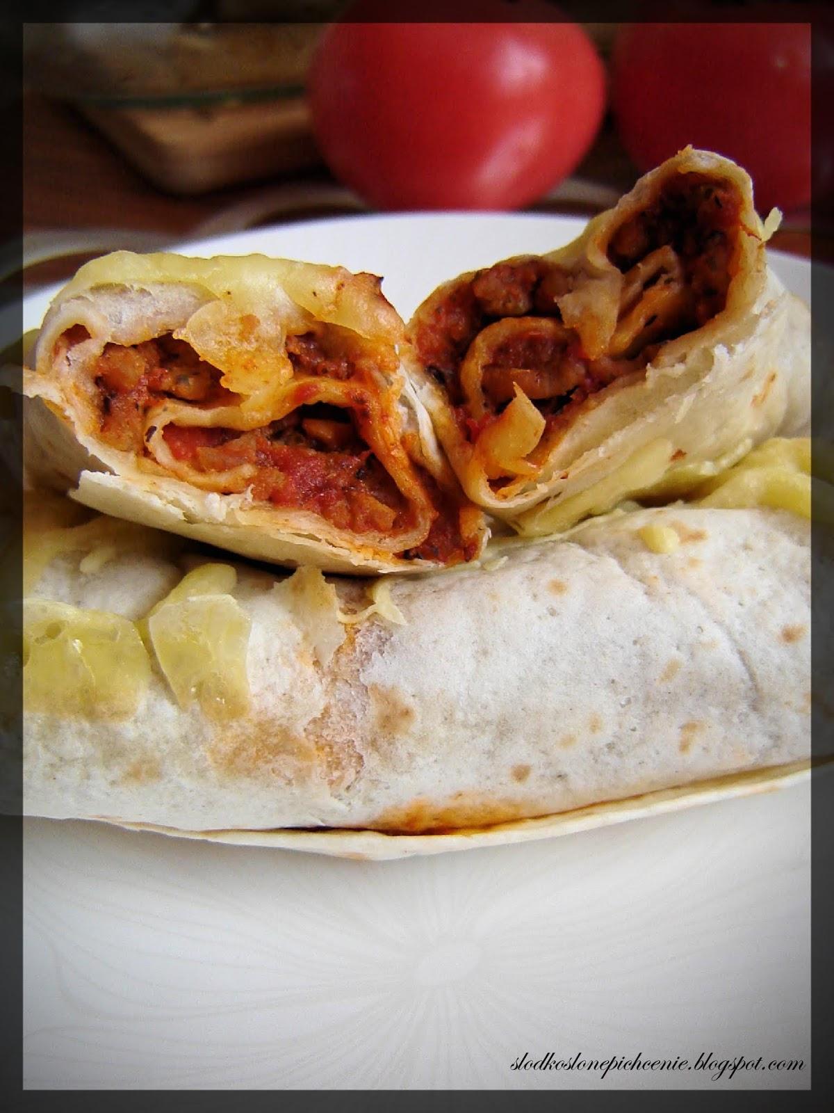 Zapiekane tortille z farszem bolognese