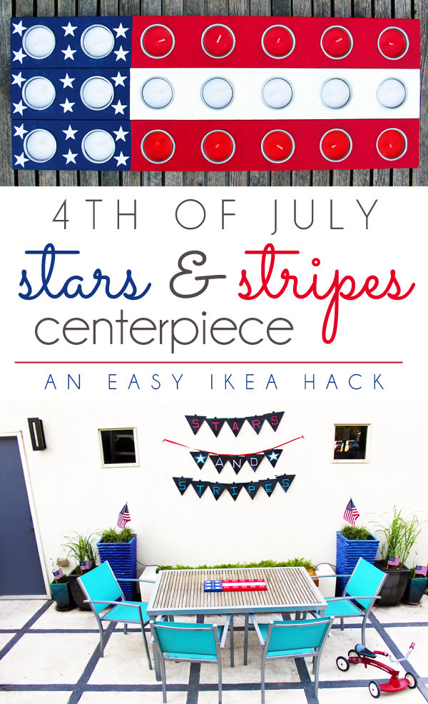 4th of July Backyard Entertaining Centerpiece Stars & Stripes