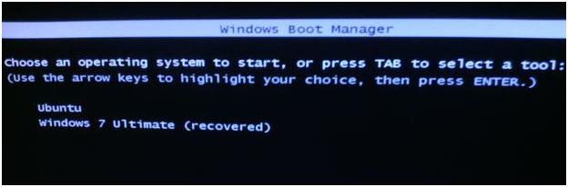 gambar tampilan menu dual boot