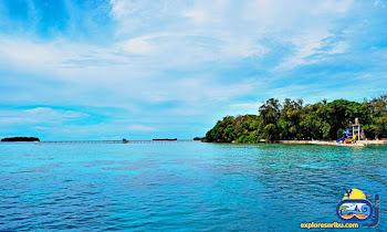 water boom di pulau putri pulau harapan