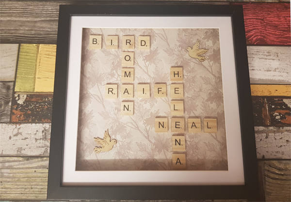 Using scrabble tiles to make Home Decor Art