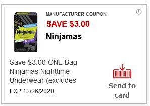 ninjamas diapers cvs coupon