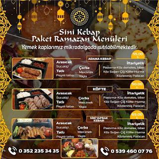 kayseri ramazan menüsü kayseri iftar menüsü 2020 sini kebap ramazan menüleri ramazan iftar menüleri