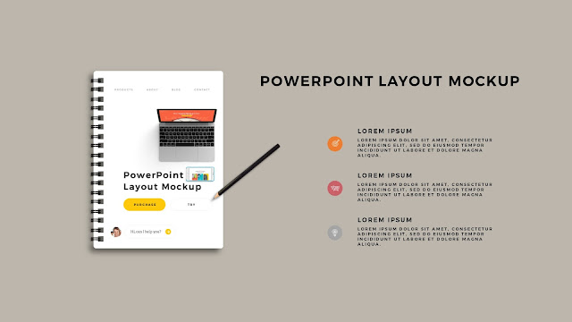 Infographic Spiral Book PowerPoint Mockup Template Slide 2