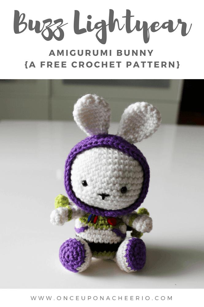 Buzz Lightyear Bunny Amigurumi FREE Crochet Pattern