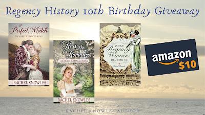 Regency History 10th birthday giveaway