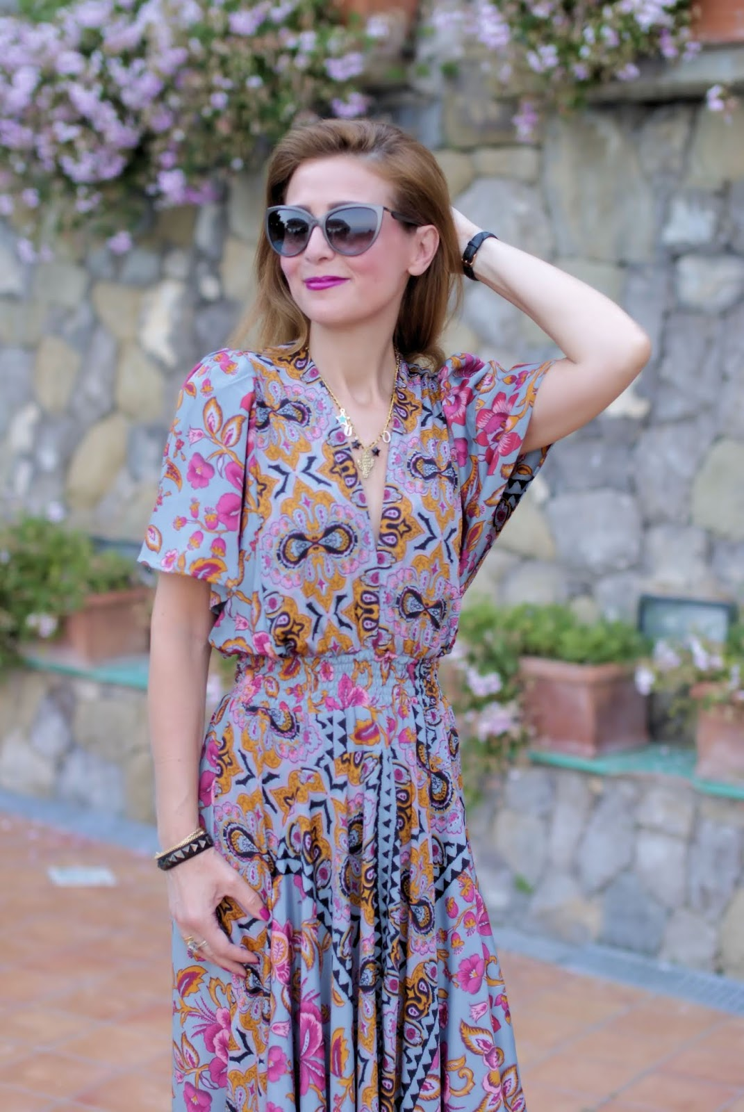 Bohemian Paisley dress on Fashion and Cookies fashion blog, fashion blogger style
