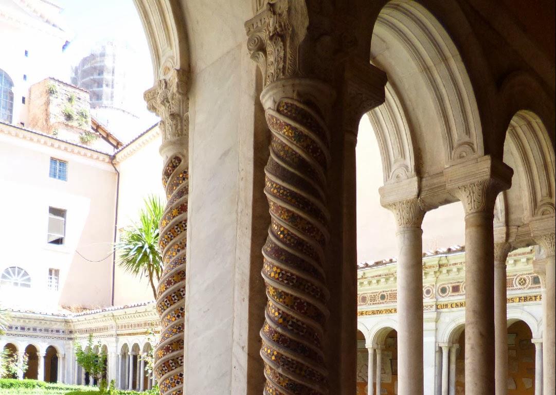 patio SP detalhe - Basílica São Paulo Fora dos Muros