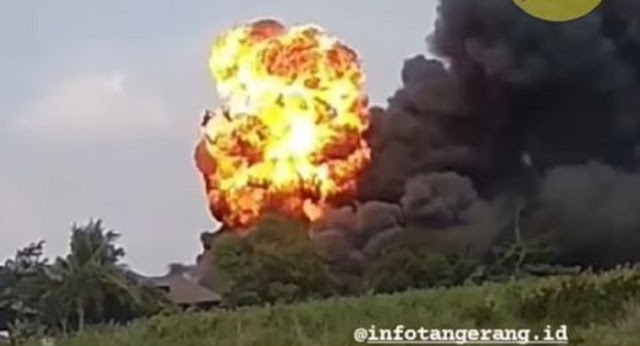 Pabrik Indofood di Cikupa Tangerang Terbakar, Api Menyembur Seperti Ledakan