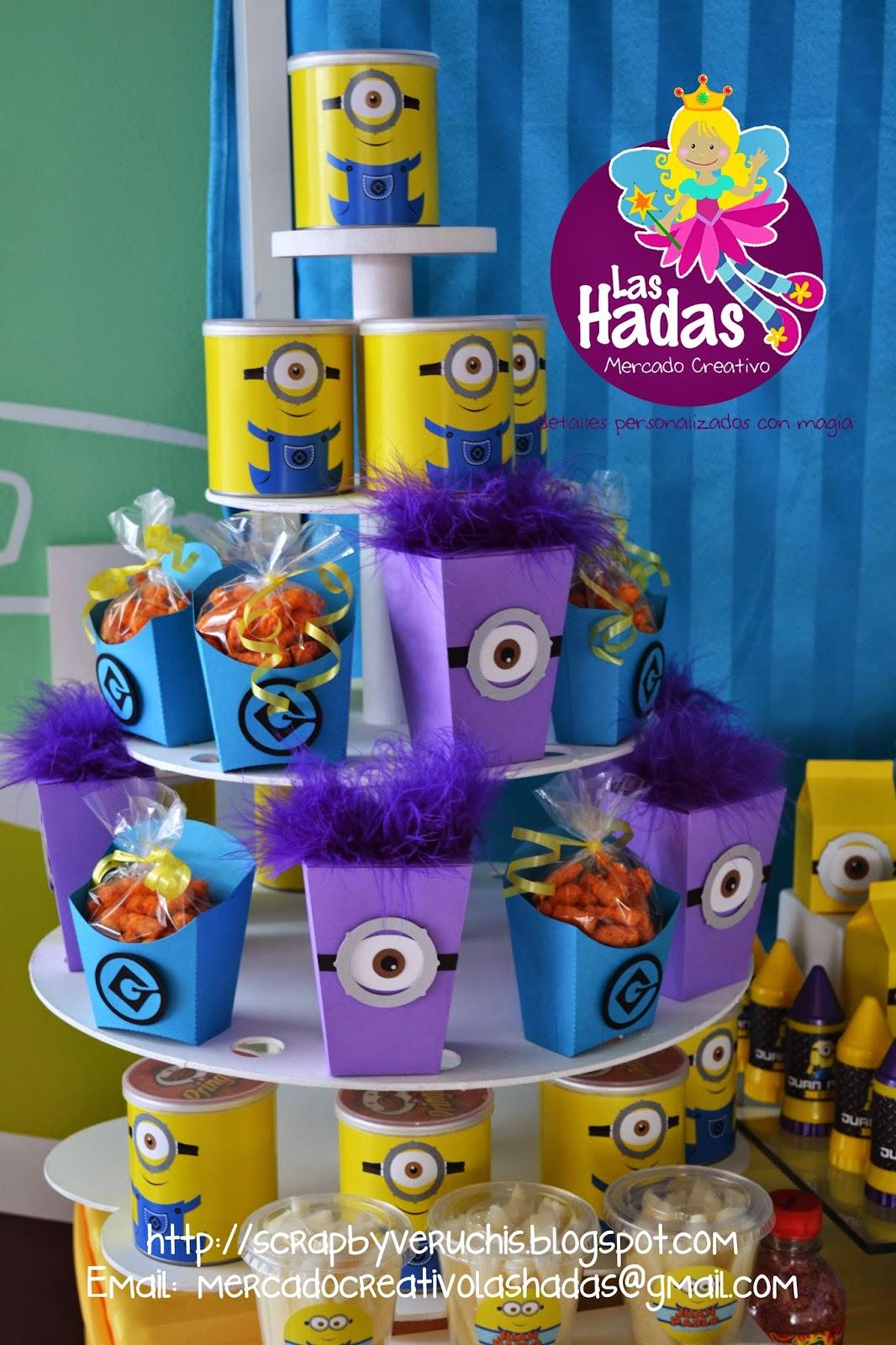 Mesas de dulces para fiestas minions scrapbyveruchis - Mesa dulce infantil ...