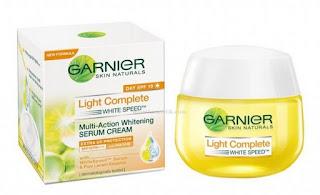 Garnier White Speed Multi-Action Whitening Serum Cream Extra UV Protection