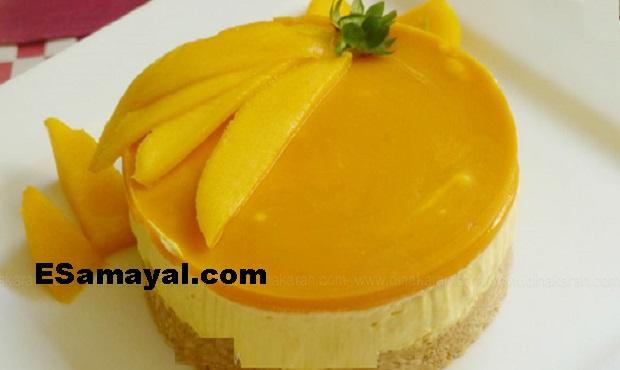 மேங்கோ கிரீம் சீஸ் புட்டிங் ரெசிபி செய்வது | Mango Cream Cheese Pudding Recipe !