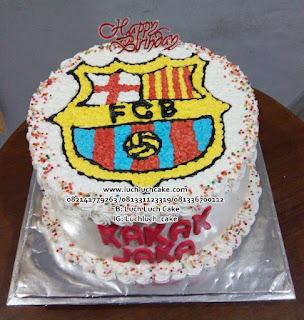 Kue Ulang Tahun Logo Barcelona Lucu, Unik, Murah
