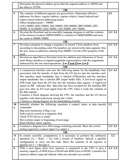 JNTUH : B Tech 2-2 Semester Bloom's Taxonomy Model Question Papers