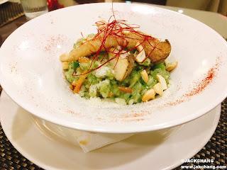蕈菇青醬燉飯