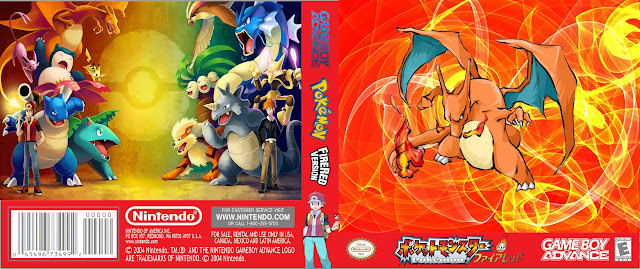 Capa Pokemon Firered Version Gameboy Advance
