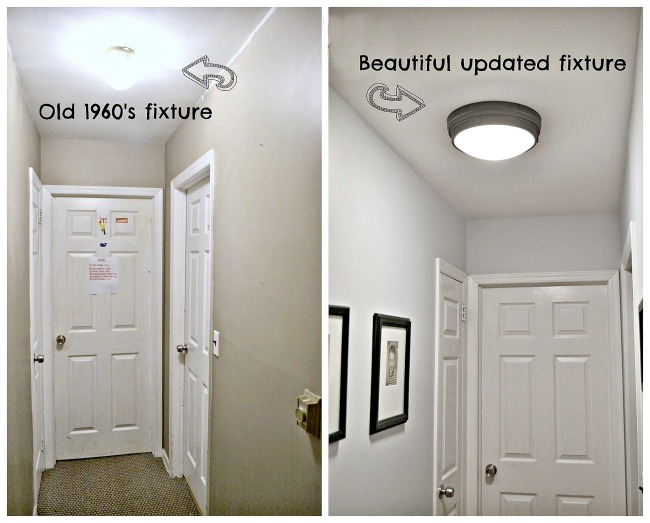DIY Hallway Renovation & Where to Get New Ceiling Lights. Homeroad.net