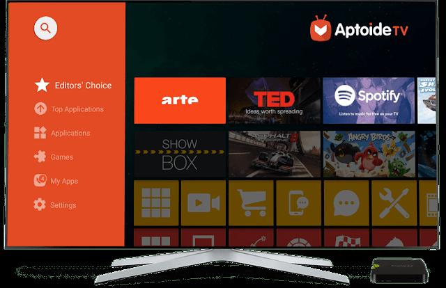 AptoideTV app apk menu descarga