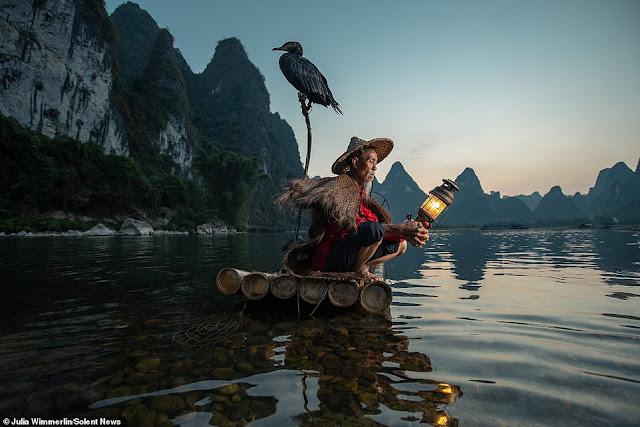 Ảnh đẹp Lão Ngư phủ tại sông Lệ Giang, Trung Quốc 2