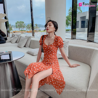 Váy maxi đi biển V279