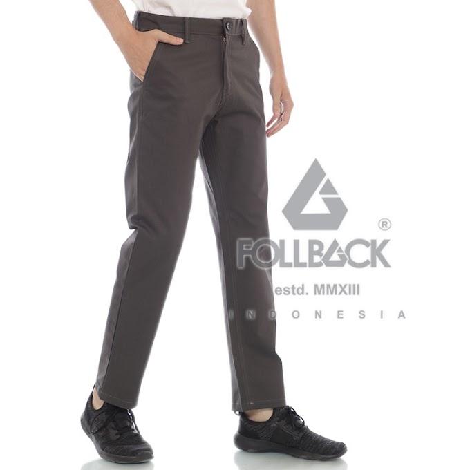 Celana Chino Pria Premium Follback California Dark Gray