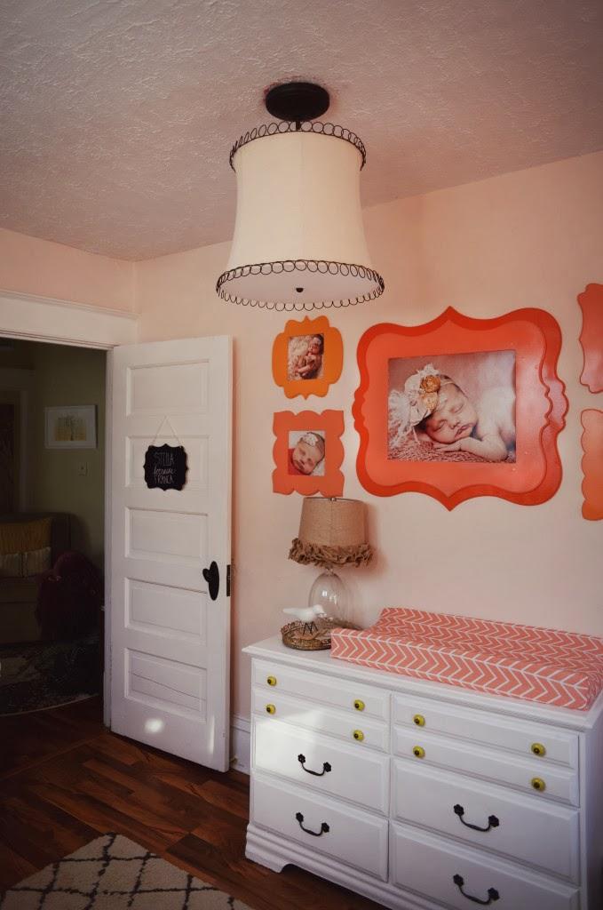 Sweet Little Nursery Pink Orange And Coral Nursery