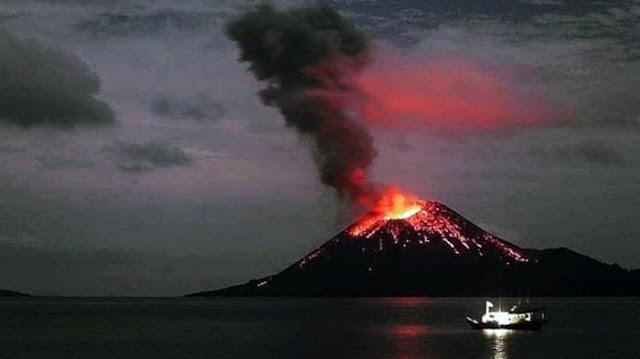 Kabar Terbaru : Anak Gunung Krakatau Kembali Meletus