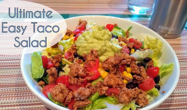 easy taco salad; healthy taco salad; light taco salad; skinny taco salad