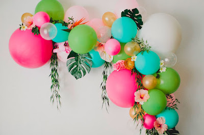 decoracao com baloes para festa