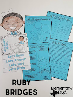 Black History Month Reading Resources- Ruby Bridges reading, online research, childrens books, biographies, and more to help teach Black History Month
