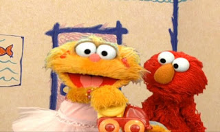 Zoe shows us how she takes turns with her friend Rocco while playing with a toy truck. Elmo tells her that Rocco is just a rock. Sesame Street Elmo's World Friends