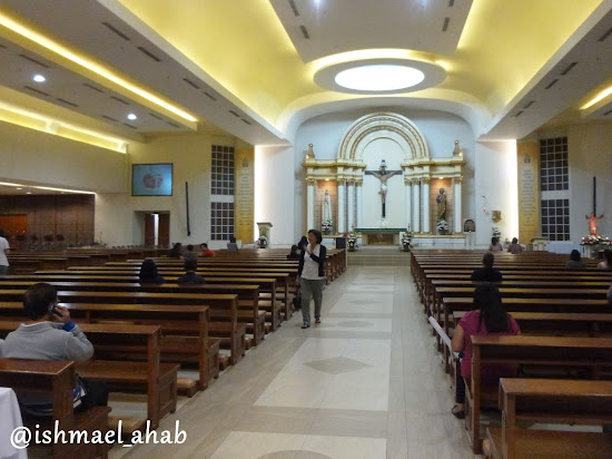 Inside the Chapel of the Eucharistic Lord in SM Megamall