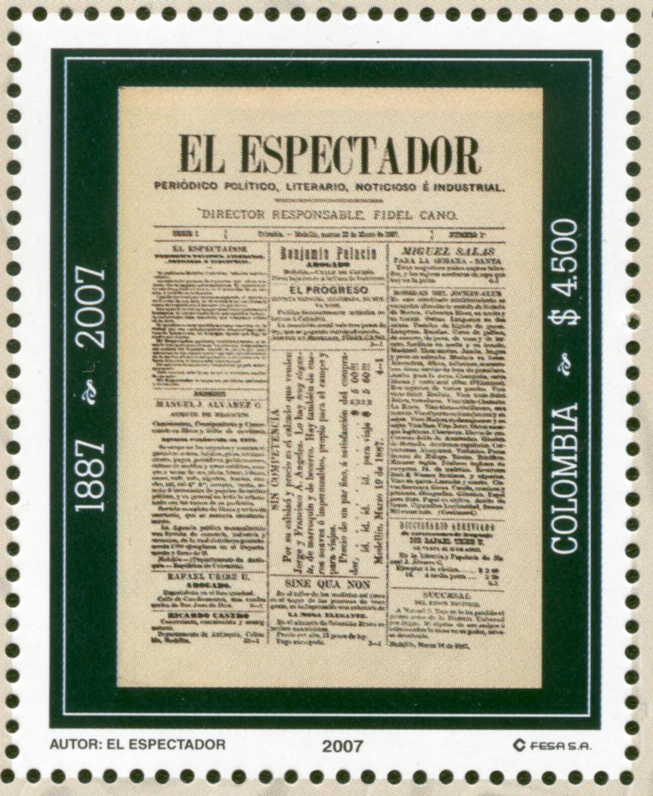 Resultado de imagen para Fotos Rafael Núñez, clausura por primera vez el periódico El Espectador.
