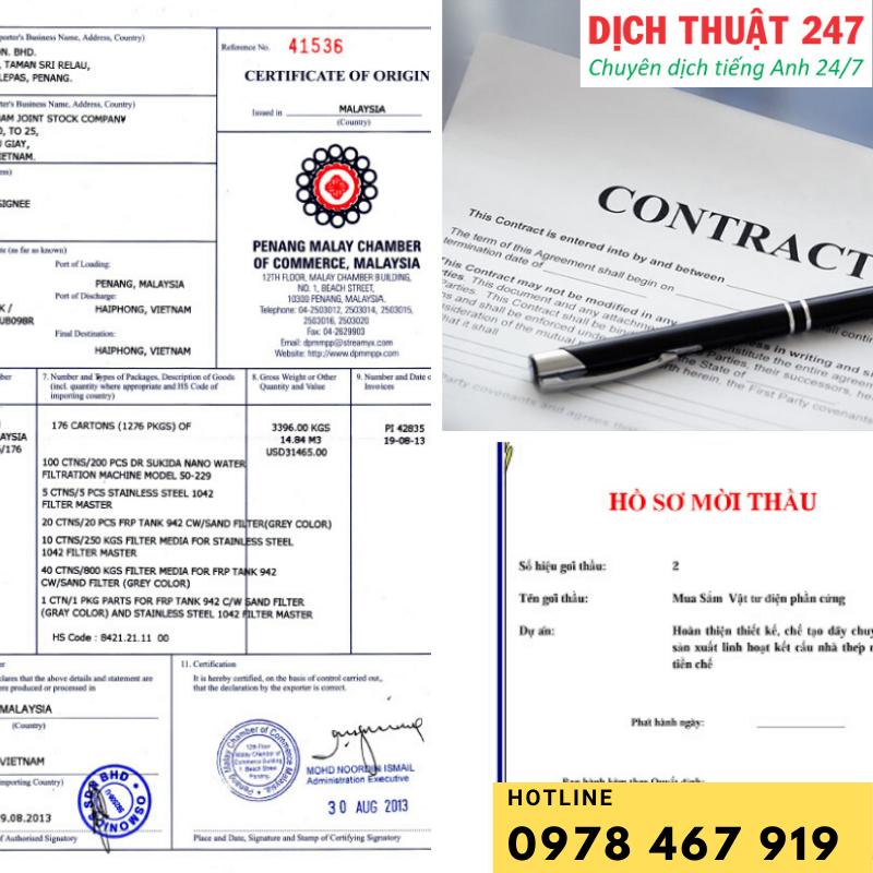 Dịch thuật 247 nhận dịch thuật công chứng văn bằng, hồ sơ, giấy tờ như chứng minh thư, thẻ căn cước, học bạ, văn bằng... tại Hà Nội.